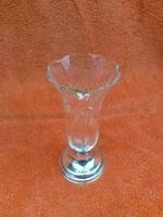 Antique Sterling Silver Hallmarked Glass Vase - Arthur Willmore Pennington, Birmingham 1905 (2 of 9)