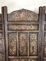Vintage Indian Hardwood Three Panel Screen Room Divider (6 of 10)