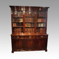 Edwardian Mahogany Library Bookcase