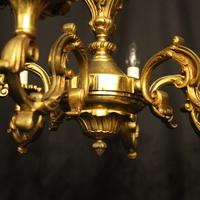 French 6 Light Gilded Bronze Antique Chandelier (2 of 10)