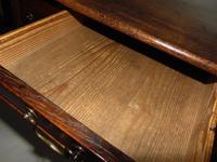 George III Oak 3 Drawer Lowboy (6 of 7)