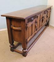 Antique Oak Sideboard Dresser Base Server (5 of 11)