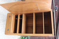 1900's Satin Walnut 1 Door Mirrored Round Corner Fitted Wardrobe (2 of 5)
