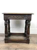Antique Oak Joint Stool with Carved Detail (13 of 13)