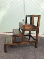 Mahogany & Leather Metamorphic Library Steps (4 of 10)
