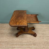 Striking William IV Figured Mahogany Antique Card / Games Table (8 of 9)