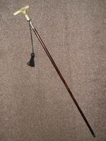 Hallmarked 1922 Silver Walking Stick / Dress Cane With Vacant Cartouche (2 of 12)