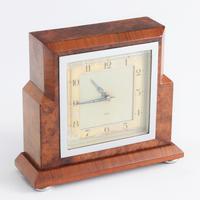 Smiths Art Deco Burr Walnut Cased 8-Day Mantle Clock c1935 (8 of 9)