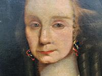 Huge Period Antique 3/4 Length Oil Portrait Painting of 17th Century Lady (5 of 13)