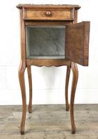 French Walnut & Marble Bedside Cupboard (9 of 15)