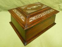 Large Inlaid Rosewood Jewellery / Table Box c.1835 (11 of 12)