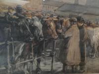 """Cattle Mart"" Watercolour by John Atkinson (6 of 8)"