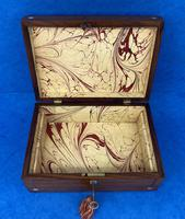 Victorian Rosewood Jewellery Box with Inlay (10 of 10)
