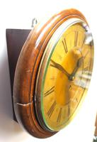 English Dial Wall Clock Rare Station Public Fusee Dial Wall Clock by Sam Aldworth at Childrey Berkshire (7 of 12)