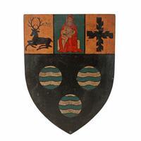 Six Edwardian Heraldic Shield Plaques (2 of 8)