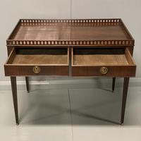 Exceptional Georgian silver table with fret gallery top (3 of 13)