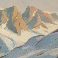 Emanuel A Petersen, Arctic Landscape With Inuit, Oil Painting (8 of 8)