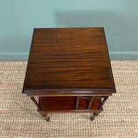 Sheraton Design Edwardian Mahogany Antique Revolving Bookcase (4 of 6)