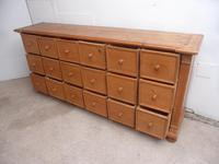 Victorian Waxed Antique Pine 18 Drawer Chest of Drawers / TV Stand (5 of 9)
