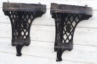 Aesthetic Movement, pierce-work corner shelves with galleries (a pair) c.1880 (33 of 35)