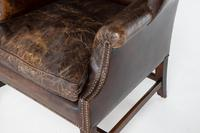 Late 19th Century Mahogany Leather Wing Chair (7 of 7)