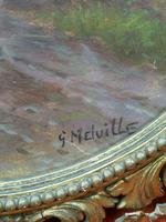 Antique Oil on Board Original Painting by G Meville - Horse & Carriage c.1880 (4 of 12)