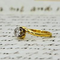 The Vintage 1968 Illusion Solitaire Diamond Ring (2 of 6)