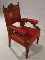 Finely Carved Late 19th Century Civic Armchair (3 of 8)