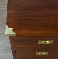 Superb Antique Pair of Mahogany Campaign Bedside Chests of Drawers (5 of 5)