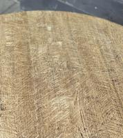 French Round Bleached Oak Farmhouse Dining Table (10 of 19)