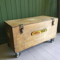 VINTAGE Industrial CHEST Coffee Table Mid Century Old Wooden TRUNK Retro Storage Box + Castors (10 of 12)
