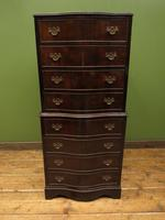 Antique Reproduction Serpentine Chest of Drawers, Chest on Chest by Hekman USA (14 of 17)