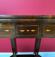 Exceptional Regency Period Rosewood Inlaid Fold-over Occasional Card Games Table (8 of 14)