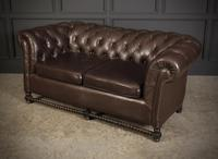 Dark Brown Leather Chesterfield Sofa (7 of 9)