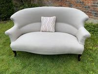 French Two Seater Sofa in Linen (3 of 8)