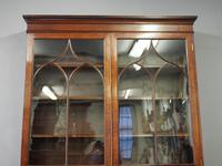 Tall George III Mahogany Cabinet Bookcase (4 of 13)