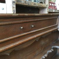 Pair of Unusual Vintage French Oak Bedside Shelf Units (6 of 9)