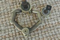 Fine Early 19th Century Brass Door Knocker Acorn in Hand Regency Period (8 of 9)