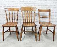 Antique Harlequin Set of 6 Kitchen Chairs (4 of 6)