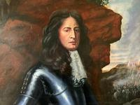 Huge Oil Portrait Painting 'King William III' After Sir Peter Lely (8 of 13)