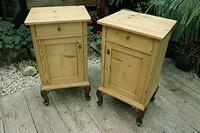 Beautiful & Unusual Old Pine Bedside Cabinets / Cupboards - We Deliver! (3 of 10)