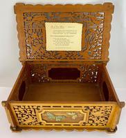 Unusual Pierced Box with Enamel Butterflies c.1920 (8 of 10)