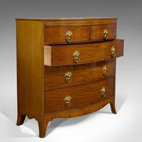 Antique Bow Front Chest of Drawers, English, Mahogany, Tallboy, Victorian, 1870 (7 of 12)