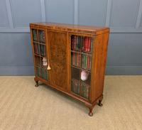 Burr Walnut Bookcase/Side Cabinet (7 of 15)