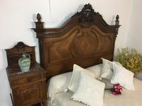 Antique French Stunning Huge Oak Bed Frame & Pot Cupboard (13 of 16)