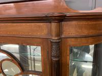 Inlaid Mahogany Display Cabinet by Jas Shoolbred (4 of 14)