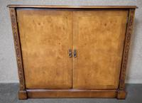 Burr Walnut Side Cabinet / Bookcase Iain James Furniture (5 of 8)