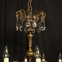 French Gilt & Crystal 12 Light Antique Chandelier Oka04051 (8 of 10)