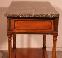 Louis XVI Console in Cherrywood, 18th Century Stamped LM Pluvinet (10 of 15)