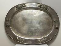Large Danish Sporting Victorian 19th Century Danish Silver Plate Salver (2 of 31)